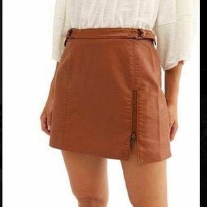 Free people caramel skirt